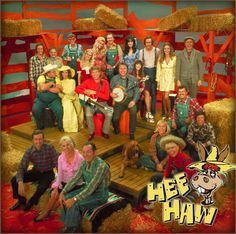 HEE HAW.  Hee Haw is an American television variety show featuring country music and humor with fictional rural Kornfield Kounty as a backdrop. It aired on CBS-TV from 1969–1971 before a 20-year run in local syndication. The show was inspired by Rowan & Martin's Laugh-In, the major difference being that Hee Haw was far less topical, and was centered on country music and rural Southern culture.  Co-hosted by country artists Buck Owens and Roy Clark for most of the series' run. Family Oriented.