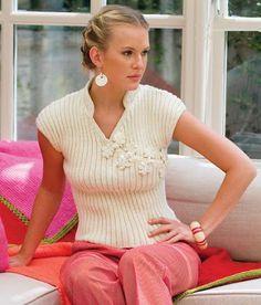 Modelo de blusa trico verão