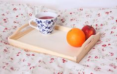 wooden tray, unfinished breakfast tray, serving tray, organizer bedroom, kitchen cottage style unpainted plain eco rustic painting decoupage by ColoriCrafts on Etsy https://www.etsy.com/listing/233511026/wooden-tray-unfinished-breakfast-tray