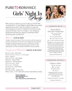 Girls Night In Pure Romance Party Theme