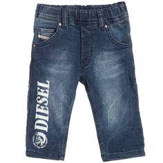 Baby Boys Blue Denim 'Krooley' Jeans, Diesel Kids, Boy