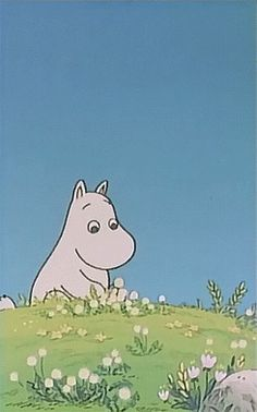 Tove Jansson 'Moomin and dandelion' Tove Jansson, Moomin Wallpaper, Les Moomins, Moomin Valley, Fanarts Anime, Animation, Aesthetic Anime, Aesthetic Pictures, Retro