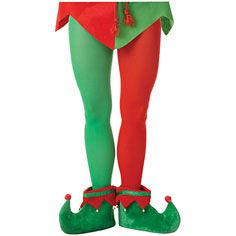 c56501e24c119 Breast Cancer elves   adult red green elf tights complete your elf costume  with elf tights