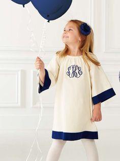 Monogrammed little girls dress.