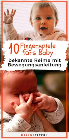 "Süße Fingerspiele für Babys und Kinder Researchers have found that finger games make baby smarter. That's why you will find cute finger games for babies here, such as ""This is the thumb"": the rhymes + movement instructions Early promotion Finger Games, Baby Kids, Baby Boy, Baby Massage, Baby Games, Happy Baby, Early Learning, Kids And Parenting, Kindergarten"