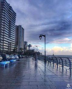 Stormy weather in Manara #Beirut By @hasnafrangieh #WeAreLebanon