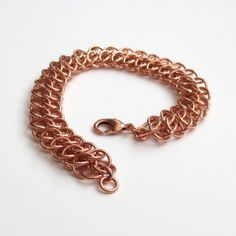 Copper chainmaille bracelet GSG weave by TattooedAndChained, $35.00