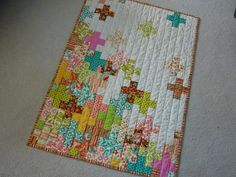 Baby Rippe Quilt Front by Something Sewn, via Flickr