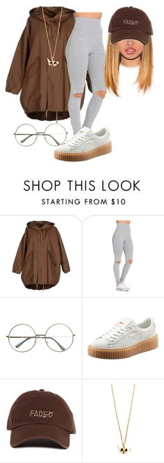 """Needed Me x Rihanna"" by xtiairax ❤ liked on Polyvore featuring Erika Cavallini Semi-Couture and Puma"