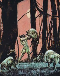 Tarzan Covers by Neal Adams and Boris Vallejo – Catspaw Dynamics Tarzan Book, Tarzan Of The Apes, Grim Reaper Tattoo, 3d Chalk Art, Boris Vallejo, Jungle Print, Soul Art, Fantasy Illustration, Dark Fantasy Art