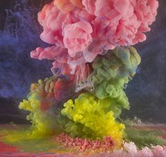 Artist Kim Keever's liquid experiments produce beautifully abstract, hypnotizing swirls of color.