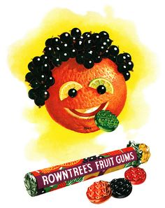 Rowntree's Fruit Gums advertisement. by totallymystified, via Flickr