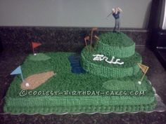 Greatest Golf Cake... This website is the Pinterest of birthday cake ideas