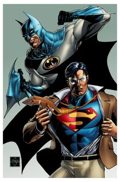Batman and Superman by Ethan Van Sciver *