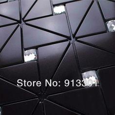 black metallic mosaic tile backsplash kitchen diamon glass metal blend frosted surface art  crystal glass tiles design deco mesh $232.98