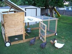 chicken coop tractor I think it may be time to remove the playset and convert the space for some chickens and bees. This coop is fantastic.