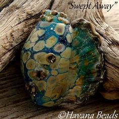 SWEPT AWAY - Handmade Lampwork Conch Shell Focal by HavanaBeads.etsy.com