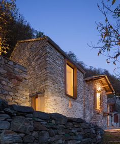 """The project involves the restoration and reuse of two traditional buildings located in a small mountain village in northern Italy. The project is an exercise of """"correct practice"""" intervention in a strongly historical and traditional context."""