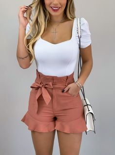 Look Fashion, Fashion Beauty, Fashion Outfits, Womens Fashion, Casual Outfits, Summer Outfits, Cute Outfits, Outing Outfit, Casual Chic