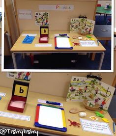 Jolly phonics interactive display roll and write letter write in the sand write on the whiteboard sort the sound Jolly Phonics Activities, Phonics Games, Phonics Reading, Kindergarten Literacy, Early Literacy, Preschool Phonics, Emergent Literacy, Teaching Activities, Preschool Learning