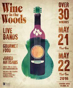 Event Poster « Wine in the Woods #DuVino #wine #posters www.vinoduvino.com