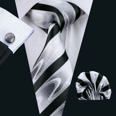 Men`s Tie Novelty Jacquard Woven Silk Tie Hanky Cuff links Set For Wedding Business Party