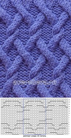"Képtalálat a következőre: ""avercheva. Knitting Paterns, Cable Knitting, Knitting Charts, Knit Patterns, Hand Knitting, Stitch Patterns, Modern Crochet Blanket, How To Purl Knit, Knitted Cushions"