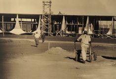 Esqueleto do Palácio da Alvorada já construído. Fotografia: Arquivo Público do Distrito Federal, ArPDF.