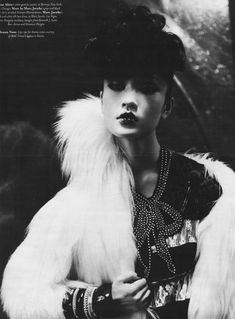 Du Juan shot by Paolo Roversi for W October 2006; styling by Alex White.