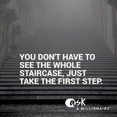 I see too many people waiting to take the first step because they don't know the…
