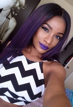 black girl with purple hair - Google Search