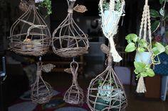 Handmade birdcage for succulents.