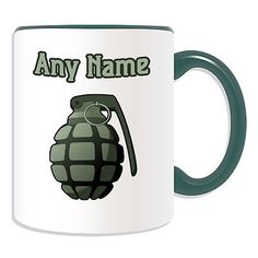 Personalised gift hand grenade mug #money box cup #battle #weapon boom war #weapon,  View more on the LINK: http://www.zeppy.io/product/gb/2/282157417352/