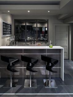 70 Home Basement Design Ideas For Men   Masculine Retreats. Contemporary Bar  StoolsContemporary HomesModern ...