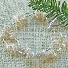White Freshwater Pearl and Sterling Silver by stanleydiggs on Etsy, $24.99