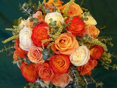 burnt orange and green wedding | Here's a bouquet that uses our fabulous orange colors and the pretty ...