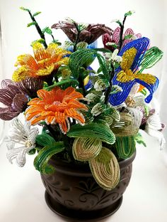 Mixed Flowers by April Lewis