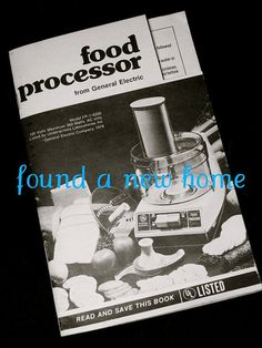 Kitchenaid kfp600 ultra power food processor instructions manual vintage ge food processor vintage ge food processor instruction manual book n recipes forumfinder Images
