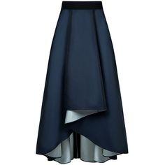 Sachin & Babi - Philip Maxi Full Skirt (£380) ❤ liked on Polyvore featuring skirts, bottoms, blue skirt, evening maxi skirt, hi lo skirt, holiday skirts and blue high low skirt