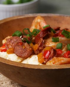 Uncle Pooh's Shrimp, Sausage, And Grits Recipe by Tasty
