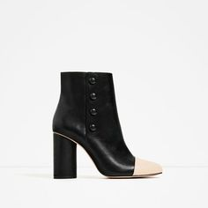 Image 2 of BUTTON DETAIL HIGH HEEL ANKLE BOOTS from Zara