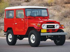 12 Photos Of A Perfect Bright Red 1978 Toyota Land Cruiser - Airows Toyota Hilux 4x4, Toyota Trucks, Lifted Ford Trucks, Toyota Cruiser, Fj Cruiser, Jeep 4x4, Jeep Truck, Jeep Rubicon, Motocross
