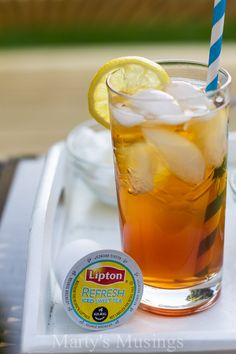 Here are some great tips from Marty's Musings, an experienced mom of five with tips on taking care of mama and drinking Lipton Iced Tea K-Cups for real refreshment.