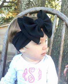 HOT PINK twist easter summer big large newborn toddler girl spring baby bow nylon headband hair clip OVERSIZED schoolgirl style