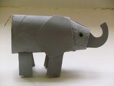 Animais de rolo de papel