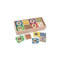 Puzzle din lemn pentru invatarea numerelor - AAD Total
