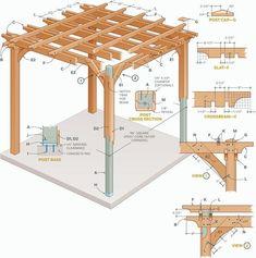 How to Build a Pergola Step By Step - DIY Building a Pergola #pergolaplansdiy #buildashedkit