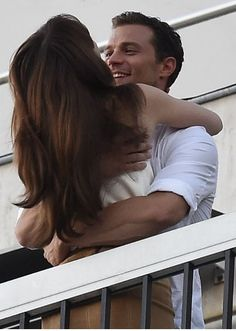 Fifty Shades' E. James Shares Behind-the-Scenes Photos From Set!: Photo Fifty Shades author E. James shared some behind-the-scenes set photos of Jamie Dornan, Dakota Johnson, and more cast and crew on set for the final days of filming… Fifty Shades Of Darker, 50 Shades Freed, 50 Shades Trilogy, Fifty Shades Series, Fifty Shades Movie, Christian Grey, Jamie Dornan, Anastasia Grey, Fifty Shades Darker