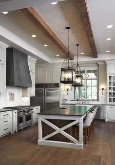 7 Startling Useful Tips: Farmhouse Kitchen Remodel Before After ikea kitchen remodel small spaces.Kitchen Remodel Cost Average kitchen remodel on a budget gray.Full Kitchen Remodel On A Budget. Farmhouse Kitchen Island, Kitchen Island Decor, Modern Farmhouse Kitchens, Home Decor Kitchen, Rustic Kitchen, Interior Design Kitchen, Kitchen Ideas, Fresh Farmhouse, Narrow Kitchen
