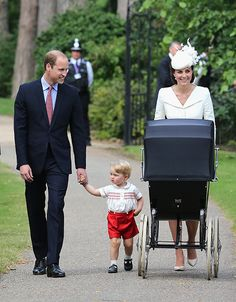 The Duke and Duchess of Cambridge, Prince George and Princess Charlotte looked picture perfect as they arrived for Charlotte's christening on Sunday. Marking the first time that they have appeared in public as a family of four, the royals were all smiles as they waved to royal enthusiasts who had been waiting outside St Mary Magdalene Church in Sandringham, where the ceremony took place.